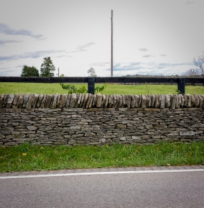 Awesome stone wall that was about 2 miles long on both sides of the road - on the back roads of Kentucky